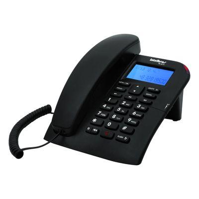Telefone Com Fio TC60ID Preto, Intelbras