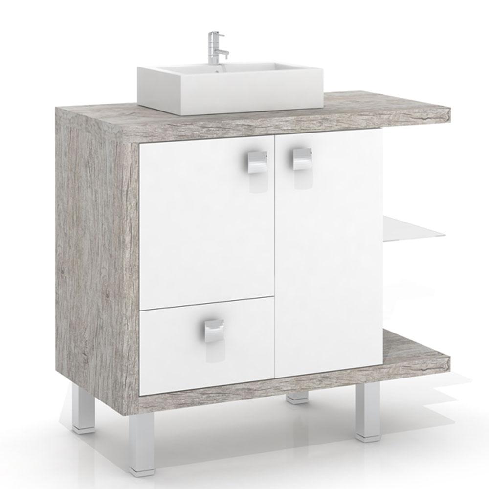 Balcão sem Cuba para Banheiro com Tampo Impermeável BP, Édez  Supermuffato -> Balcao Banheiro Moderno
