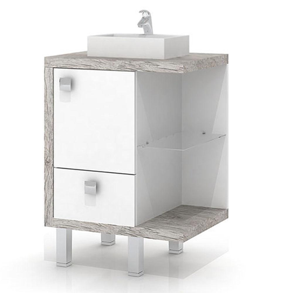 Balcão sem Cuba para Banheiro com Tampo Impermeável BP Texturizado Vintage, É -> Cuba Para Banheiro Com Balcao