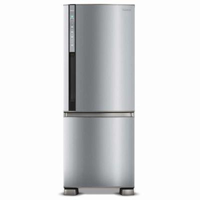 Refrigerador Frost Free Panasonic NR - BB52PV2X 423 Litros Freezer Invertido 127V, Aço Escovado
