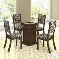 Mesa-de-Jantar-Kiara-com-4-Cadeiras-Gerbera-Choco-Castanho-Viero-Moveis-226437