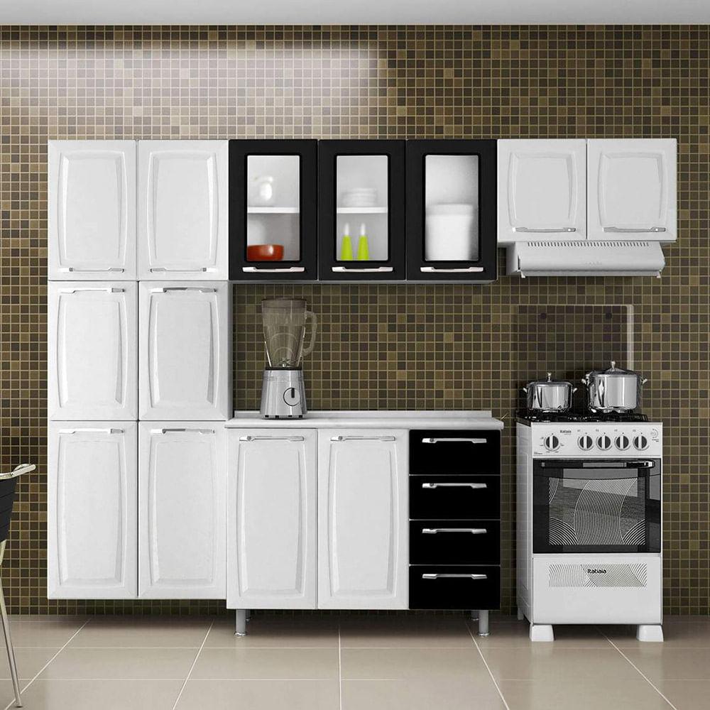 Pin Kit Cozinha Itatiaia Charme 4 Portas 3 Gavetas on Pinterest # Kit Cozinha Pequena