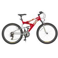 Bicicleta-Fischer-Vector-21-Marchas-Aro-26-VermelhoPrata