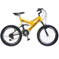 Bicicleta-Colli-Aro-20-e-Dupla-Suspensao-AmareloPreto