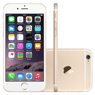 iPhone 6 Apple, 4G iOS 8 16GB Câmera 8MP Tela Retina HD Multi - Touch 4.7, Dourado