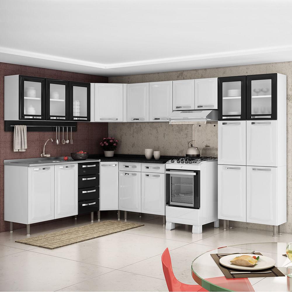 Cozinha Completa Itatiaia Itanew Em A O Cz18 Gabinete De Cozinha