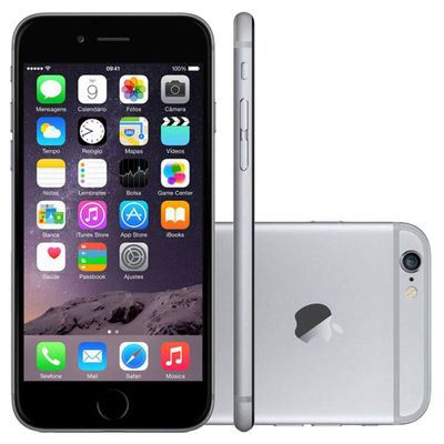 iPhone 6 Apple 4G iOS 8 16GB Câmera 8MP Tela Retina HD Multi - Touch 4,7 ´ , Cinza