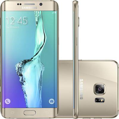 Smartphone Samsung Galaxy S6 Edge+ SM - G928G, 4G Android 5.1 Octa Core 32GB Câmera 16MP Tela 5.7, Dourado