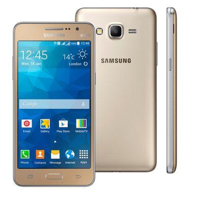 Smartphone Samsung Galaxy Gran Prime Duos SM - G531H, 3G Android 5.1 Quad Core 1.3 GHz 8GB Câmera 8MP Tela 5.0, Dourado