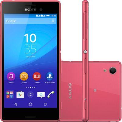 Smartphone Sony Xperia M4 Aqua Dual a Prova D água, 4G Android 5.0 Octa Core 16GB Câmera 13MP Tela 5.0, Coral