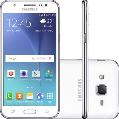 Smartphone Samsung Galaxy J5 Duos J500B Desbloqueado Vivo, 4G Android 5.1 Quad Core 1.2 GHz 16GB Câmera 13MP Tela 5.0 ´ , Branco
