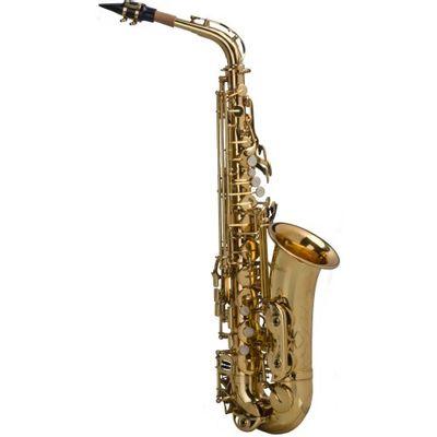 Saxofone Alto Em Mi Bemol Laqueado Sgft - 6430l Com Case Shelt