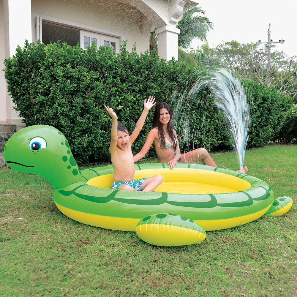Piscina infantil sunfit tartaruga gigante 200 litros com for Piscina infantil