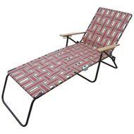 Cadeira-Espreguicadeira-Trancada-Vermelha-Sunfit