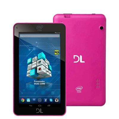 Tablet DL X - Pro, Wi - Fi Android 4.4 Processador Dual Core 1.2GHz 8GB Tela 7.0 ´ , Rosa