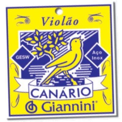 Encordoamento Para Violão Geswb Série Canário Aço 0.11 Giannini