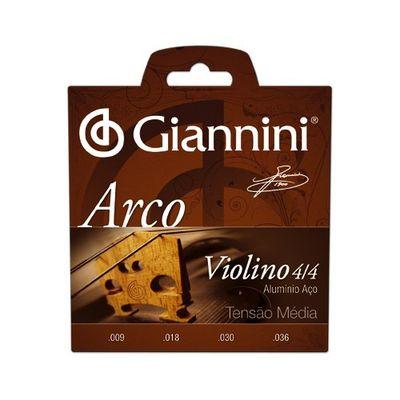Encordoamento Para Violino Geavva Série Arco Aço Médio Giannini