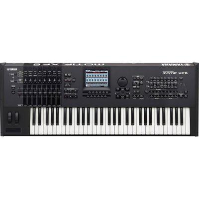 Teclado Sintetizador Motif - xf6 Sem Fonte Preto Yamaha