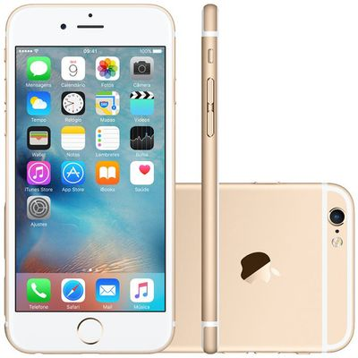 iPhone 6s Apple 4G iOS 9 16GB Câmera 12MP Tela Retina HD com 3D 4.7 ´ , Dourado