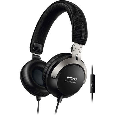 Fone de Ouvido Dobrável Philips SHL3565BK/00 com Microfone, Preto