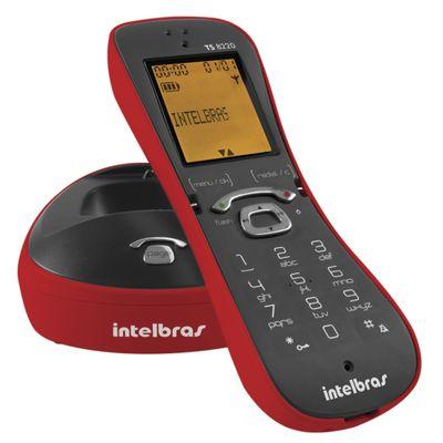 Telefone sem Fio Intelbras TS-8220 com Identificador de Chamadas, Vermelho