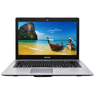 Notebook Positivo Stilo XR3500 Processador Intel Celeron Dual Core 2GB 32GB Windows 10 Tela 14, Cinza chumbo com textura