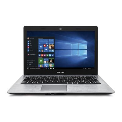 Notebook Positivo Stilo XR3550 Processador Intel Celeron Dual Core 4GB 500GB Windows 10 Tela 14, Cinza chumbo com textura