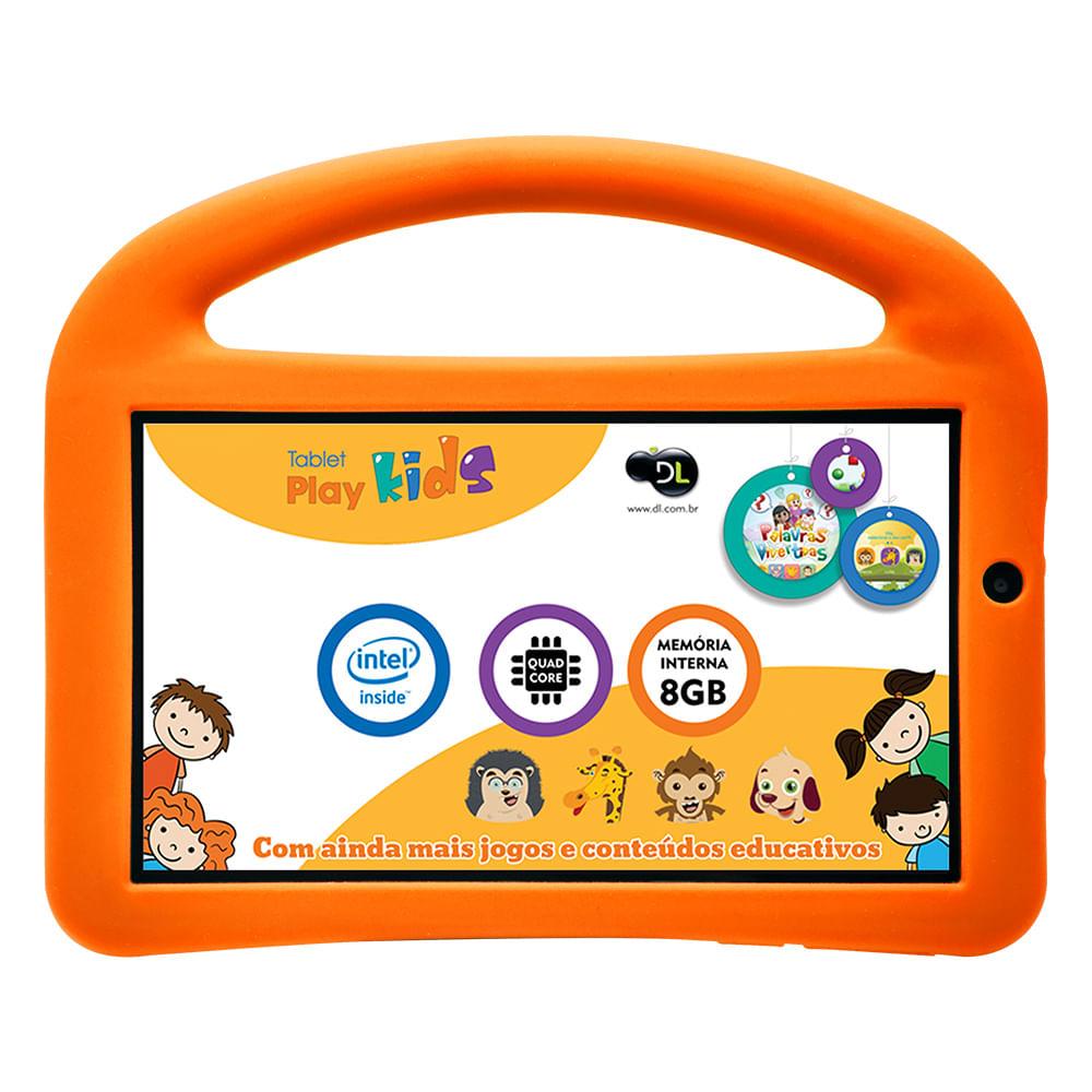 Tablet DL PlayKids, 3G Android 5.1 Processador Intel Quad Core 1.2GHz 8GB Câmera 0.3MP Tela 7.0 ´, Branco