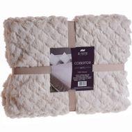 Cobertor-King-Size-Di-Fatto-Dupla-Face-Bege-Claro-1579791