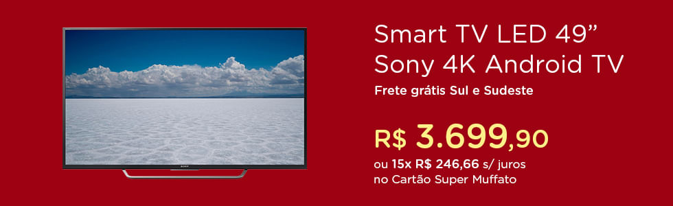 "Smart TV LED 49"" 49X7005D Sony"