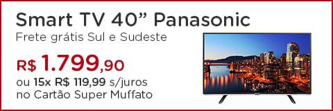 "Smart TV LED 40"" Panasonic"