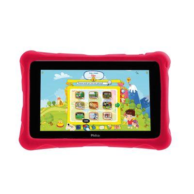 Tablet Philco Kids PH7HC, Wi - FI Android 4.2 Dual Core 1.2 GHz 8GB Câmera 2MP Tela 7, Preto