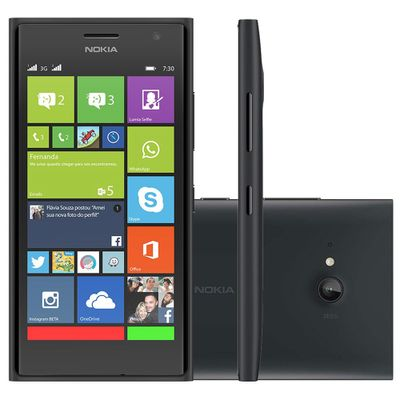 Smartphone Nokia Lumia 730 Dual, 3G 8GB, Preto