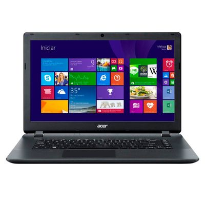 Notebook Acer Aspire ES1 - 511 - C98N, Processador Intel Dual Core Memória 2GB HD 250GB Windows 8 Tela LED 15.6, Preto