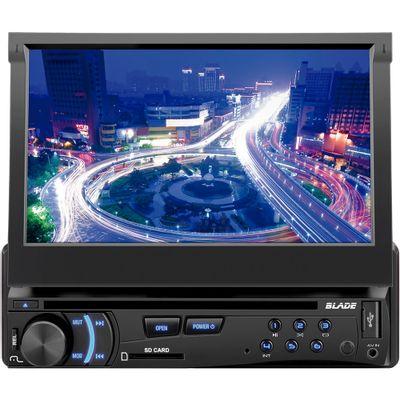 DVD Player Automotivo Multilaser Blade 7 Entrada USB e Cartão SD Tela Frontal Motorizado 7 ´