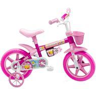 Bicicleta-Colli-Flower-Aro-12-com-Cestinha-Rosa