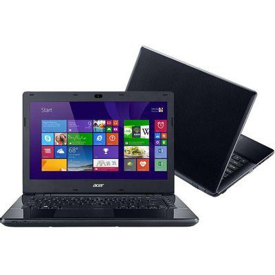 Notebook Acer Aspire E5 - 471 - 30AQ, Processador Intel i3 4GB HD 500GB Windows 8.1 Tela 14 ´ , Preto