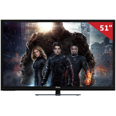 Smart TV Plasma 51 ´ PH51U20PSGW Philco, HD HDMI USB e Função Ginga