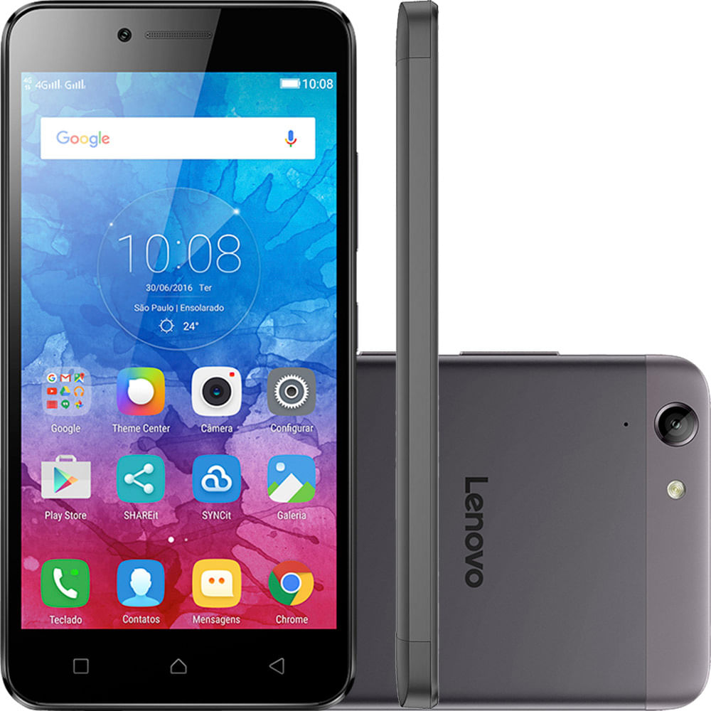 Smartphone Lenovo Vibe K5, 4G Android 5.1 Octa Core 16GB Câmera 13.0MP Tela 5.0 ´, Grafite