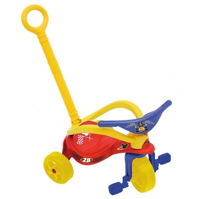 Triciclo-Xalingo-Mickey-com-Empurrador-Vermelho-1663700