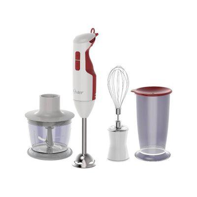Mixer Oster Delight 3 em 1 127V, Branco/Vermelho