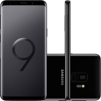 "Smartphone Samsung Galaxy S9 SM-G9600, 4G Android 8.0 Octa Core 2.8GHz 128GB Câmera 12MP Tela 5.8"", Preto"