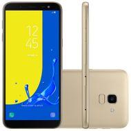 """Smartphone Samsung Galaxy J6 SM-J600GT, 4G Android 8.0 Octa Core 1.6GHz 32GB Câmera 13MP Tela 5.6"""", Dourado"""