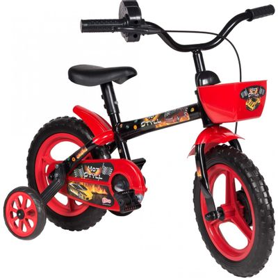 Bicicleta Colli Bike Boy Aro 12 Rígida 1 Marcha - Preto/vermelho