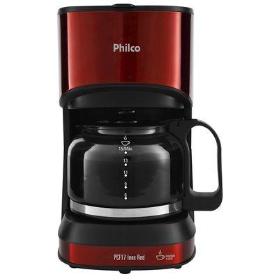 Cafeteira Elétrica Philco Inox Vermelho 220v - Pcf17