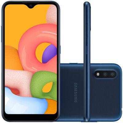 Celular Smartphone Samsung Galaxy A01 A015m 16gb Azul - Dual Chip