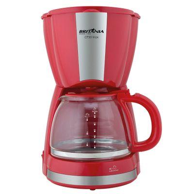 Cafeteira Elétrica Britania Inox Vermelho 110v - Cp30